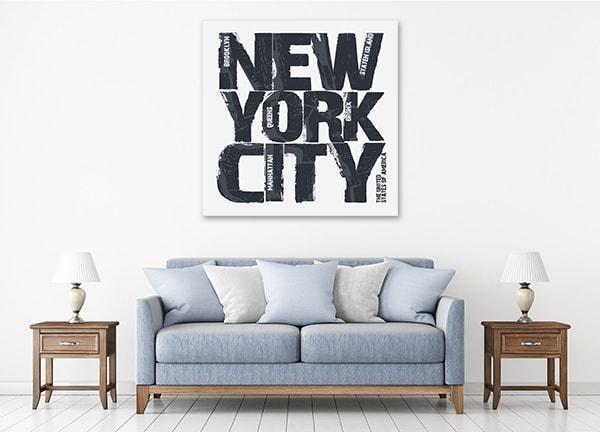 New York Type Artwork