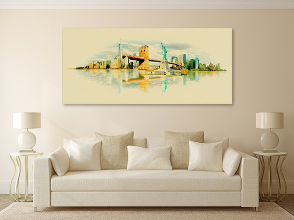 New York Vector Canvas Prints