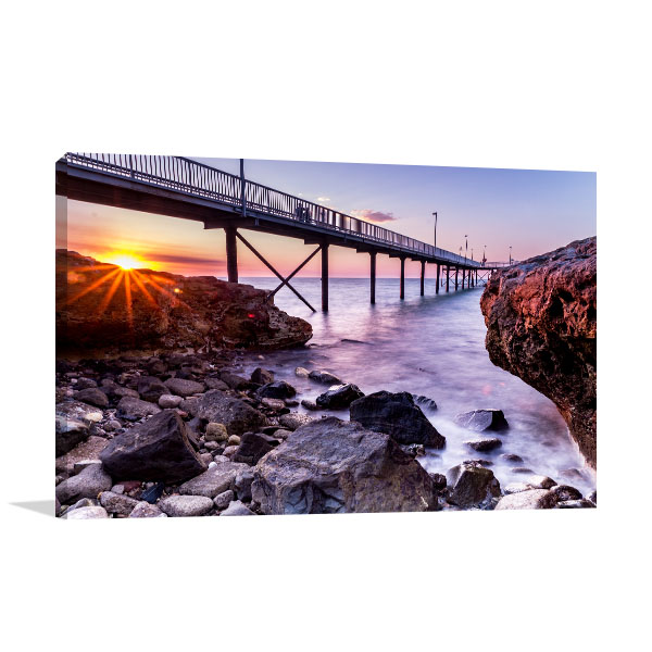 Nightcliff Jetty Darwin Canvas Art Prints
