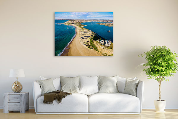 Nobbys Beach Art Print Lighthouse Wall Art