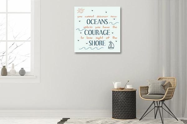 Oceans Courage Shore Artwork