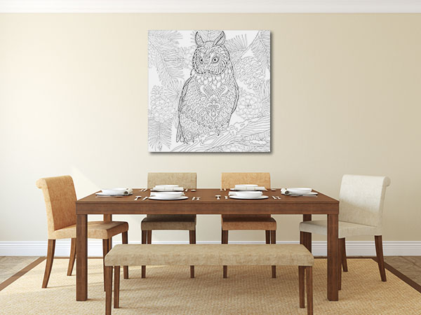 Owl in Branch Artwork