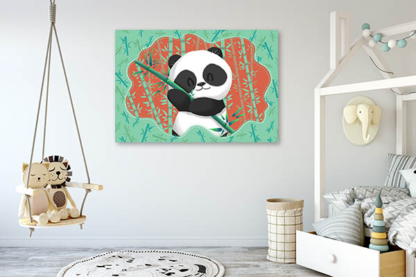Panda in Bamboo Forest Wall Art