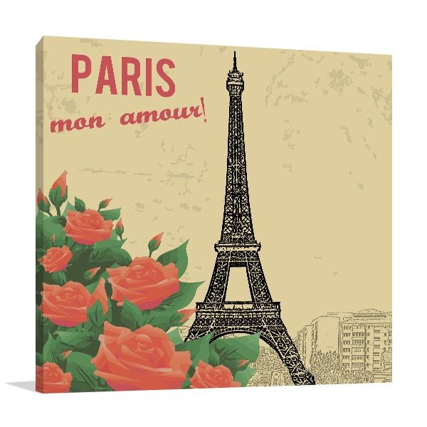 Paris My Love Canvas Art