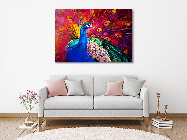 Peacock Beauty Art Print Canvas Art Prints