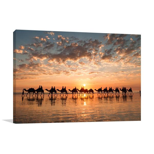 Perth Art Print Cable Beach Golden Sunset Canvas Prints