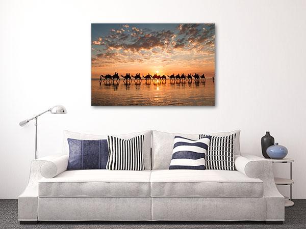 Perth Art Print Cable Beach Golden Sunset Photo Wall
