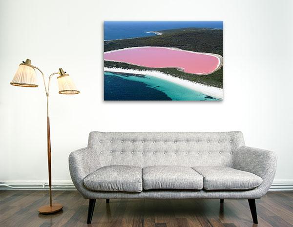 Perth Art Print Lake Hillier Canvas Prints