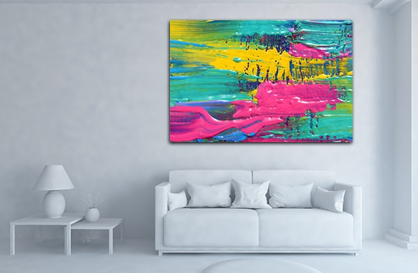 Pink and Green Canvas Prints