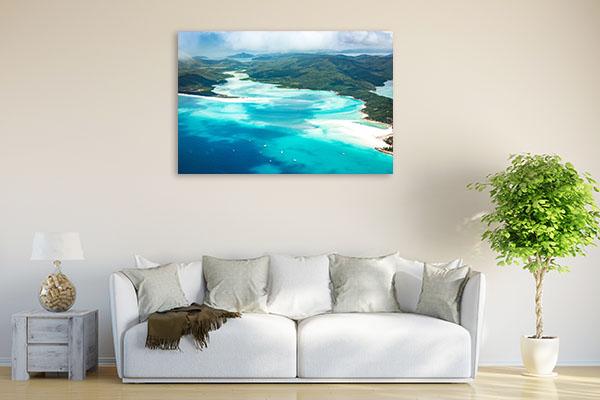 Queensland Art Print Whitehaven Aerial Canvas Art Prints
