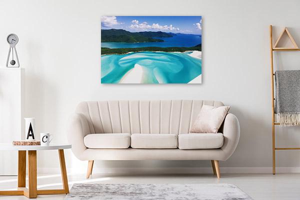 Queensland Art Print Whitehaven Beach Print Wall Art