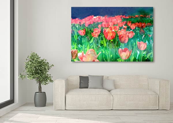 red tulips canvas art print really cool floral patterns