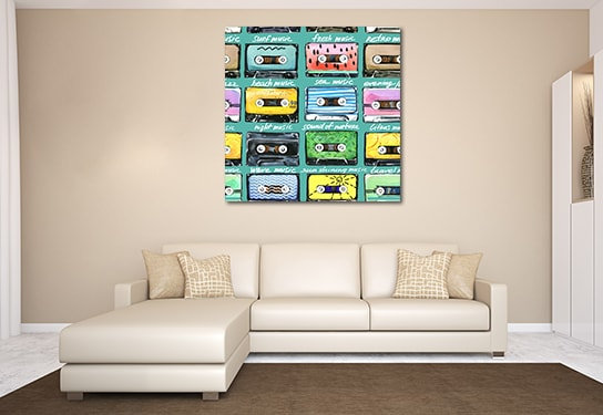 Retro Cassettes Prints Canvas