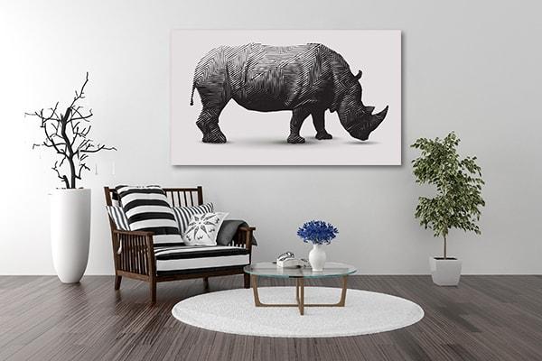Rhino Polygon Art Canvas Print Canvas Art Prints