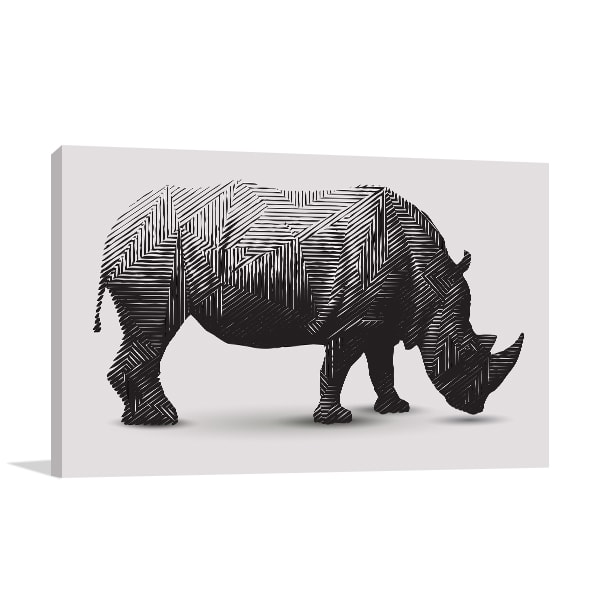 Rhino Polygon Art Canvas Print Canvas Prints