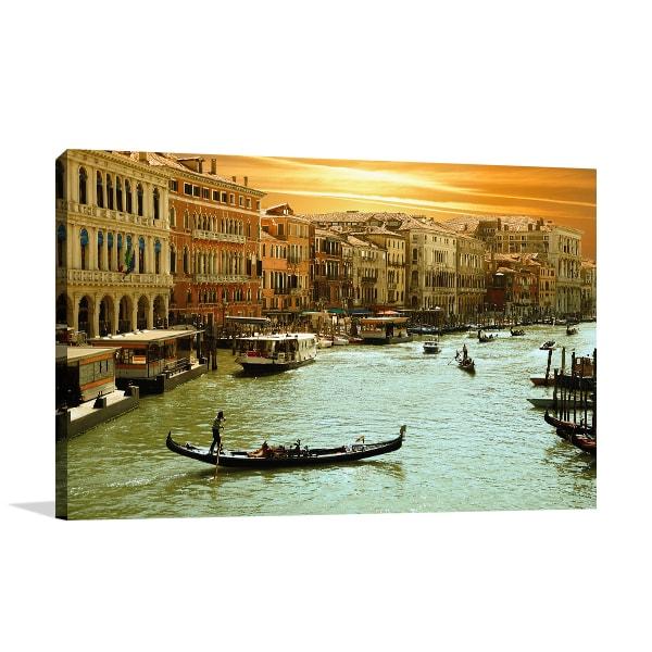 Romantic City Canvas Art Print