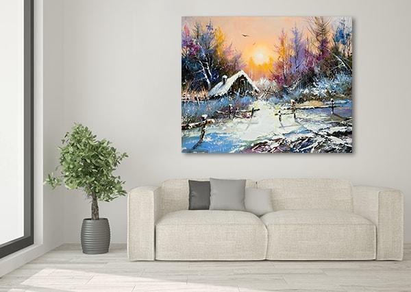 Rural Winter Art Prints