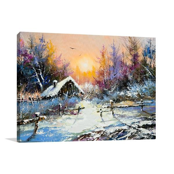 Rural Winter Print Artwork