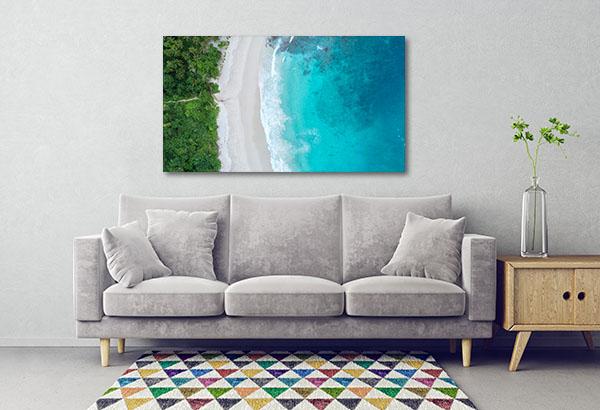 Sea Aerial View Print Artwork