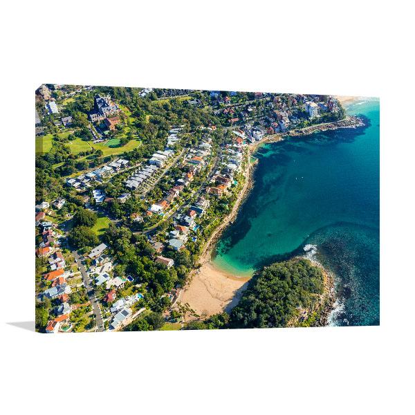 Shelly Beach Art Print Sydney Aerial Artwork