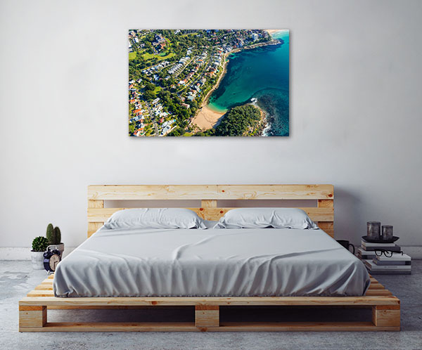 Shelly Beach Art Print Sydney Aerial Canvas Art