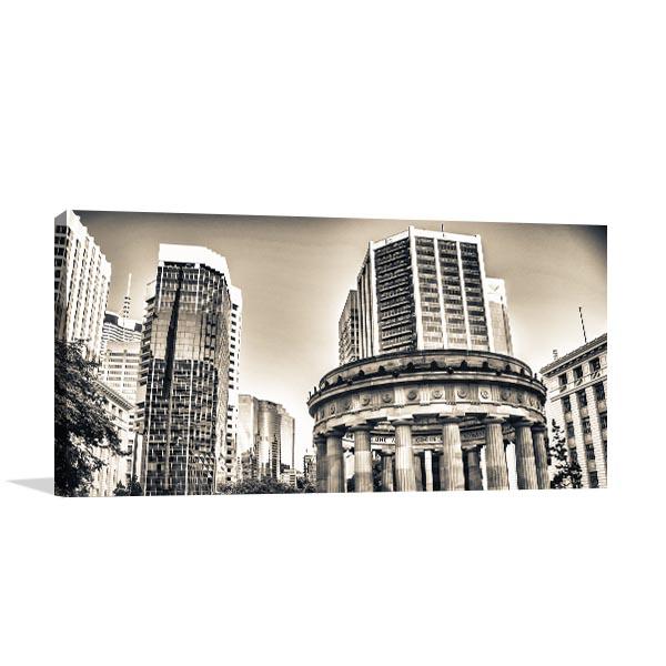 Skyscrapers sepia brisbane print artwork