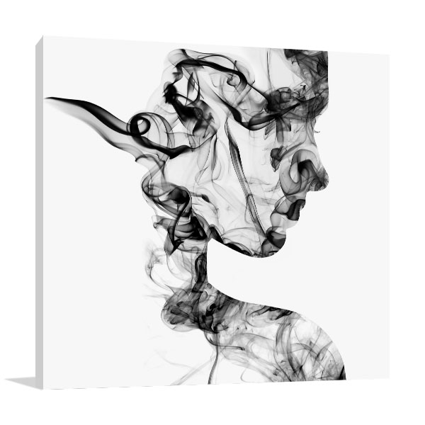 Smoke Face Prints Canvas