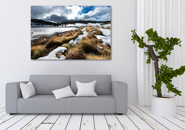 Snowy Kosciuszko Art Print on the wall