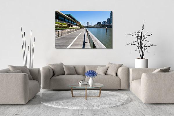 South Bank River Brisbane Canvas Art