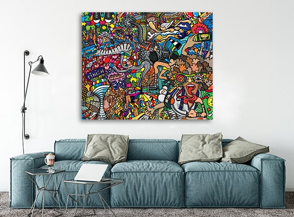 Sports Collage Wall Decor : Cool pictures in canvas on sports collage art print