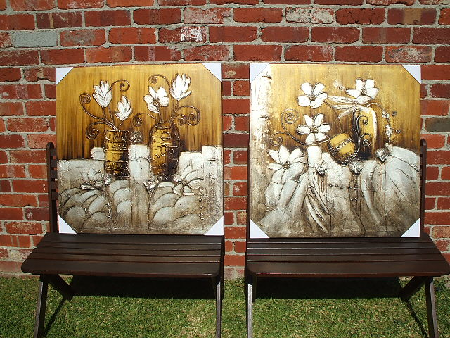 Matching Pairs Oil Paintings - Framed Art Sydney Melbourne Brisbane