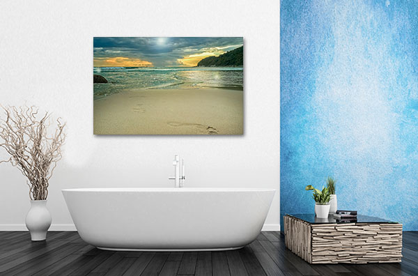Storm Clouds By The Sea Canvas Prints