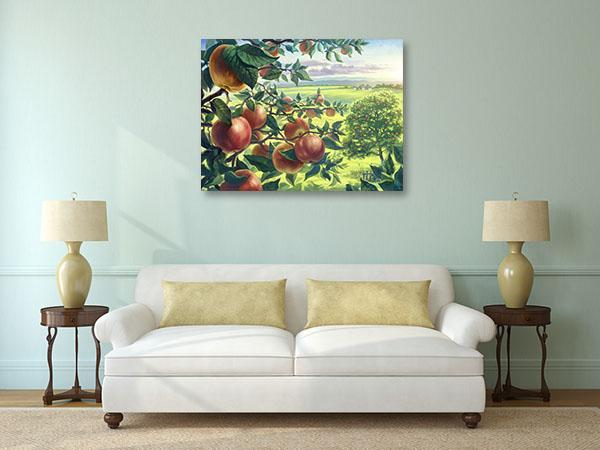Summer Apples Branch Canvas Prints