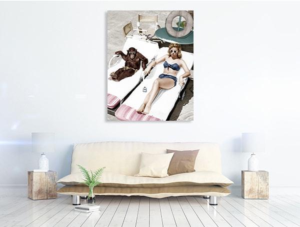 Sunbathing Prints Canvas