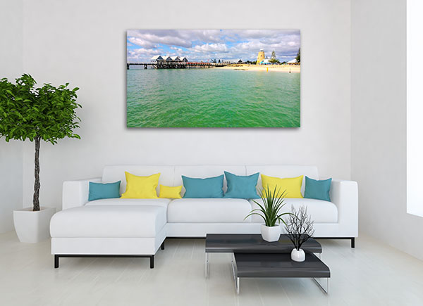 Sunny Day Busselton Beach Canvas Prints