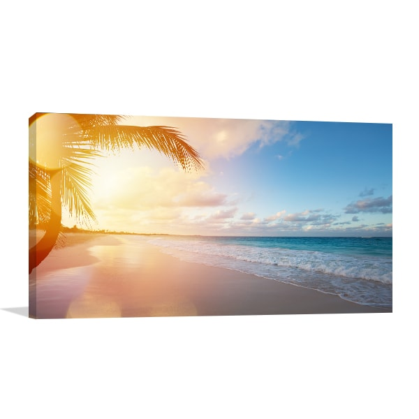 Sunrise on Beach Print Artwork