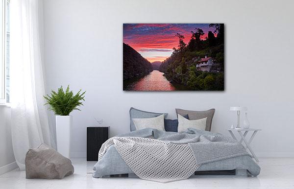 Sunset Launceston Canvas Prints