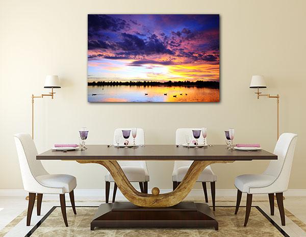 Sunset Over Lake Ballarat Canvas Prints
