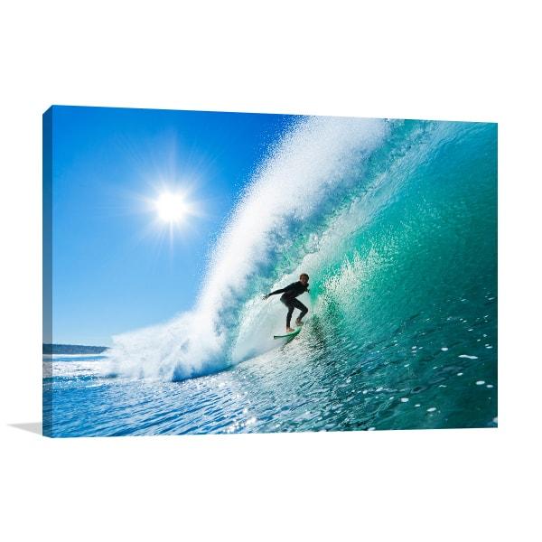 Surfing Print Art Canvas