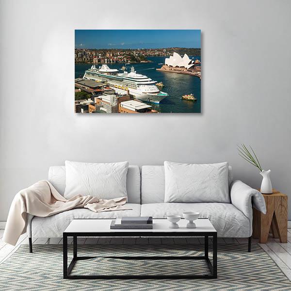 Sydney Art Print Circular Quay Harbour Print Wall Art