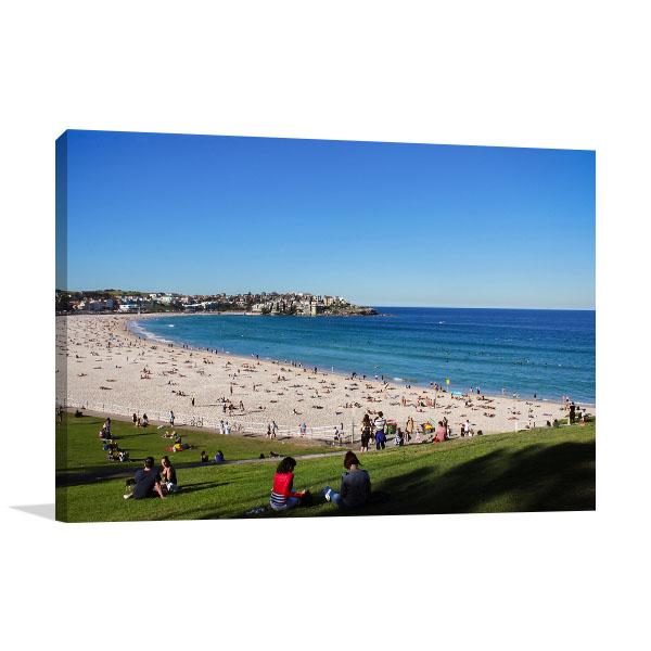 Sydney Bondi Art Print People at the Beach Photo Wall