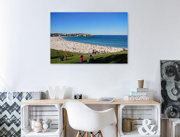 Sydney Bondi Art Print People at the Beach Print Photo Art