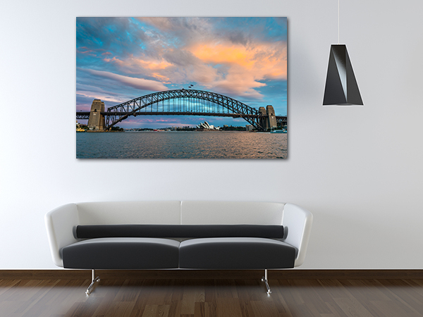 Sydney Bridge Wall Art Print on the wall