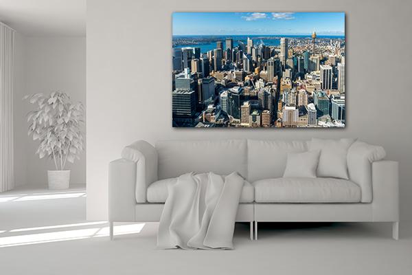Sydney City Aerial View Canvas Prints