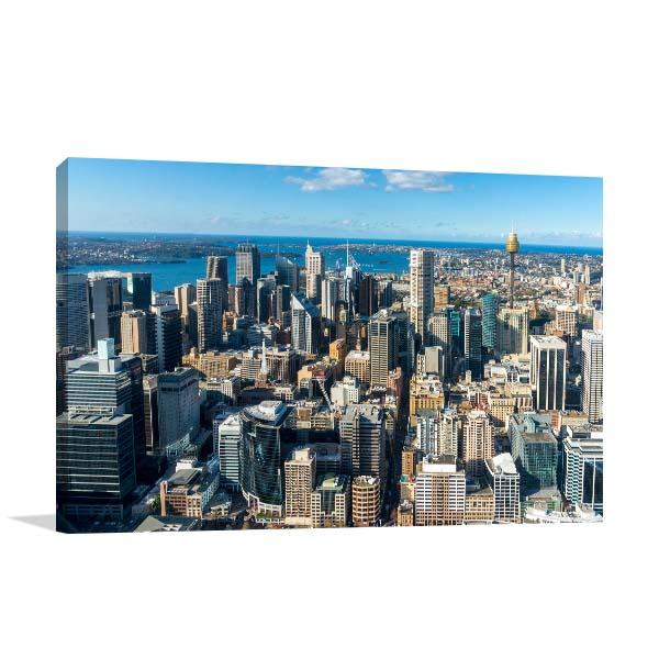 Sydney City Aerial View Prints Canvas