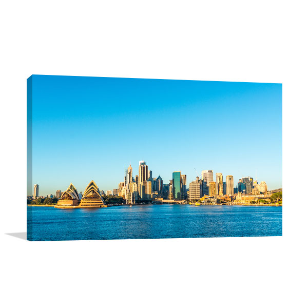 Sydney City Skyline Canvas Art Prints