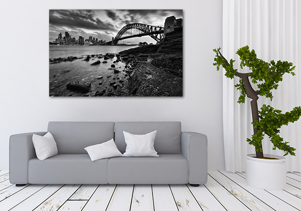 Sydney Landmarks Canvas Art Print on the wall