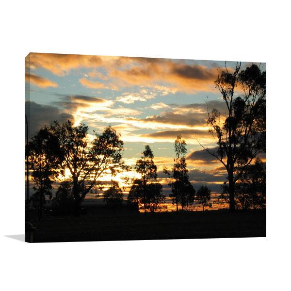 Tamworth Art Wall Print At Sunset Canvas Prints