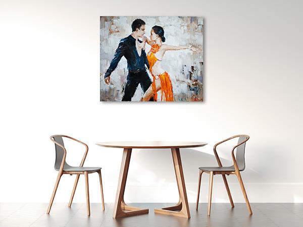 Tango in Watercolor Artwork
