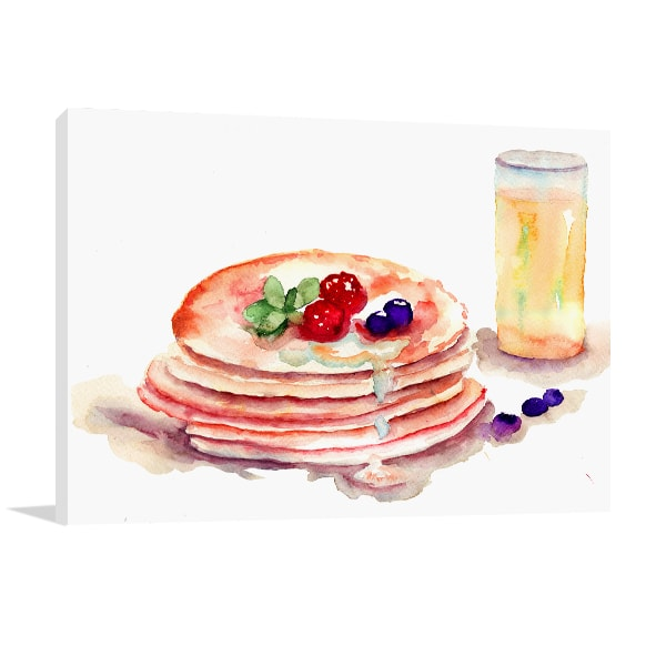 Tasty Pancakes Print Artwork